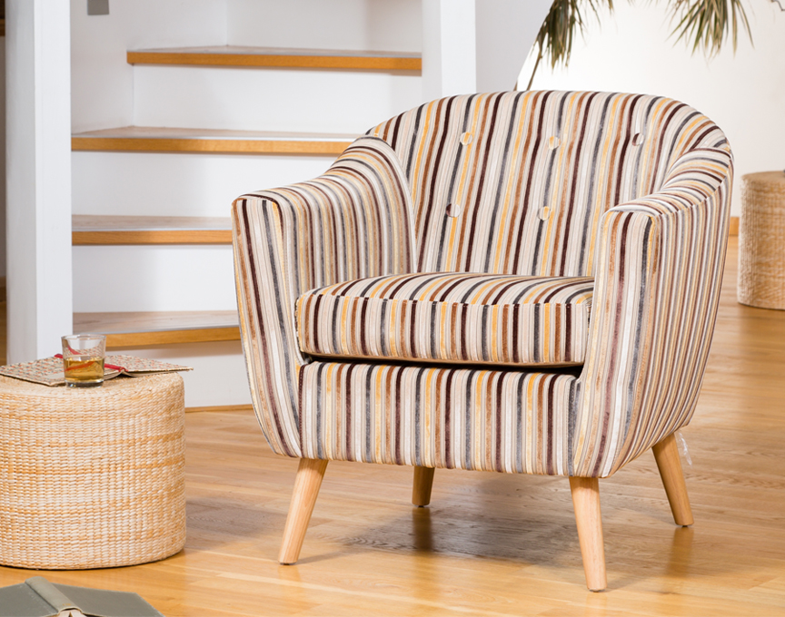 Sherston tub chair brown