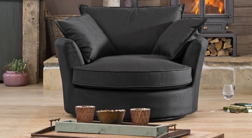 Somerset cuddle chair charcoal