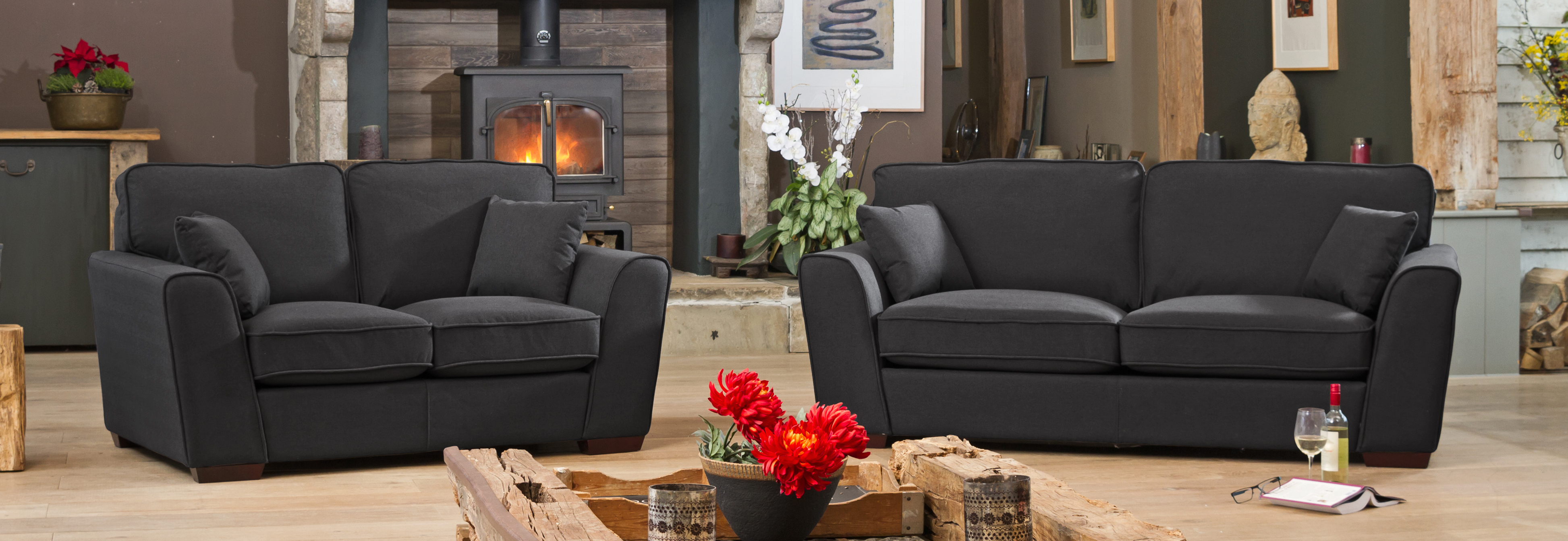 Somerset suite charcoal