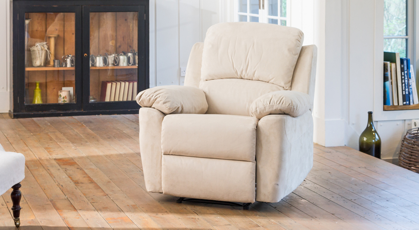 Swanmore reclining armchair stone