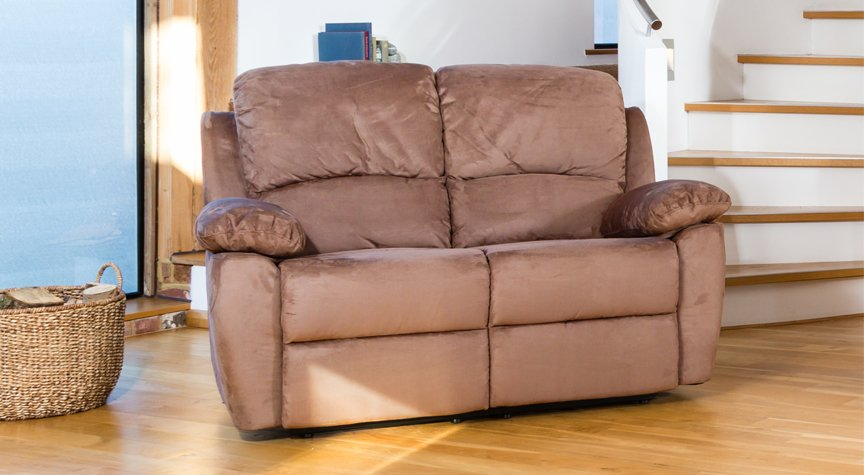Swanmore 2 seat reclining sofa cappuccino
