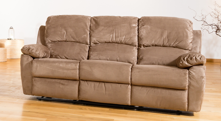 Swanmore 3 seat reclining sofa cappuccino