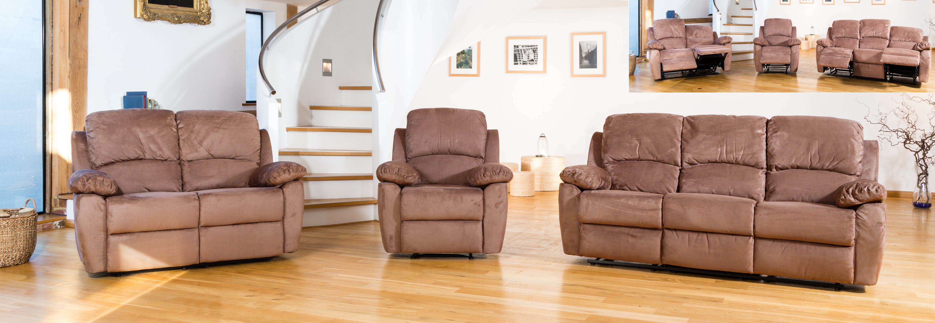 Swanmore Reclining Suite cappuccino