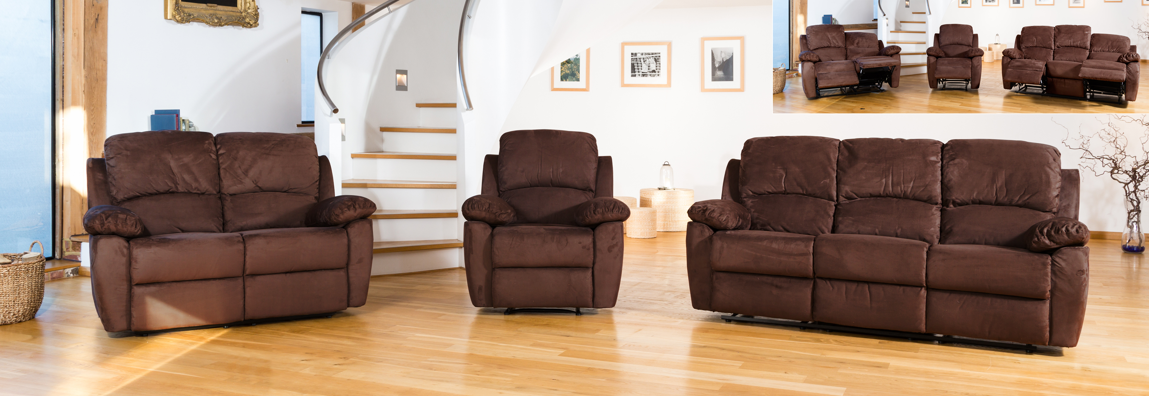 Swanmore Reclining Suite mocha