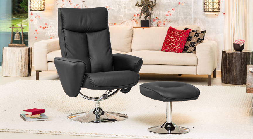 Valentia Massage with Heat Swivel Chair Black