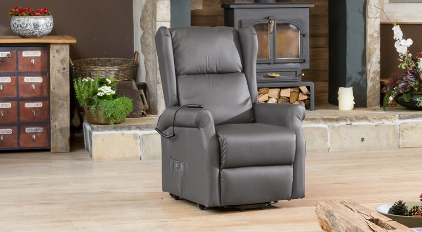 Verwood Riser Recliner Chair with Heat & Massage Grey