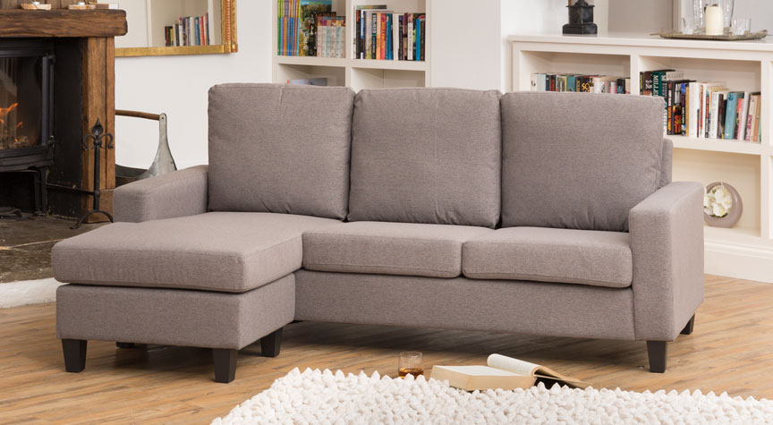 Willowfield Reversible Corner Sofa Dark Grey