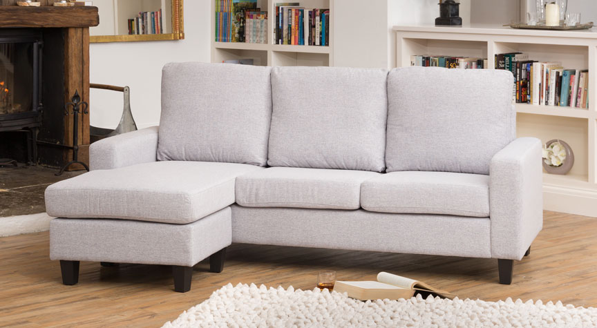 Willowfield Reversible Corner Sofa Light Grey