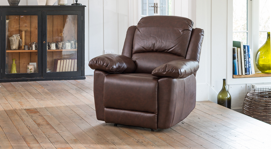 Wilton reclining armchair brown