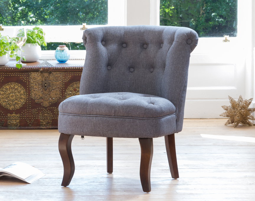 Wolverton accent chair dark grey