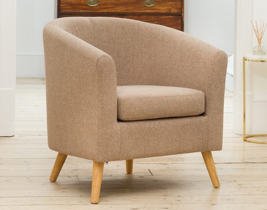 Wycombe tub chair mixed brown